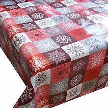 Wachstuch Kristall Rot Weihnachten· Eckig 80x360