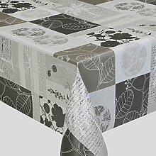 Wachstuch LFGB Lux Grau Breite 80 - 140 cm Länge wählbar abwaschbare Tischdecke 140 x 310 cm