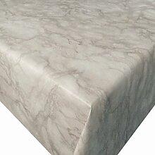 Wachstuch Marmor Beige · Eckig 120x180 cm · Länge wählbar· abwaschbare Tischdecke