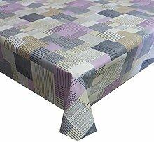 Wachstuch Modern Robust Beige Breite & Länge wählbar abwaschbare Tischdecke Eckig 110 x 400 cm