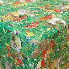Wachstuch Ostern 1 Bunt· Eckig 105x460 cm · Länge wählbar· abwaschbare Tischdecke