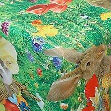 Wachstuch Ostern Bunt · Eckig ca. 100x300 cm ·