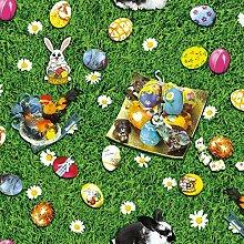 Wachstuch Ostern Osterei Breite & Länge wählbar abwaschbare Tischdecke Eckig 110 x 410 cm