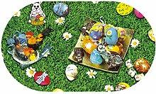 Wachstuch Ostern RUND OVAL Größe & Farbe