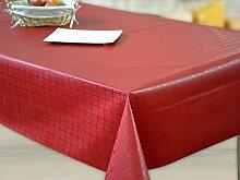 Wachstuch Tischdecke Abwaschbar Eckig 140 x 240 cm Meterware Ro