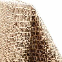 Wachstuch Tischdecke abwaschbar Lederlook Lederimitat Lederoptik Braun 250 x 140cm