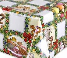 Wachstuch Tischdecke abwischbar rutschfest, glatt