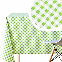 Wachstuch-Tischdecke aus PVC, abwischbar, 200 x