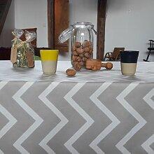Wachstuch-Tischdecke Chevron aus 100% Baumwolle