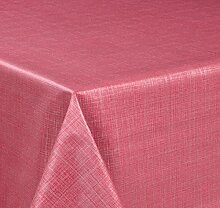 Wachstuch Tischdecke, Größe wählbar, d-c-fix Top Qualität Meterware, versiegelt abwischbar geprägt Sharon Pink (600 x 140 cm)