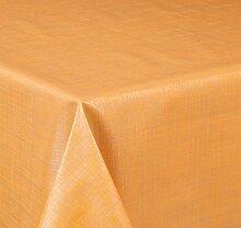 Wachstuch Tischdecke, Größe wählbar, d-c-fix Top Qualität Meterware, versiegelt abwischbar geprägt Sharon Orange (220 x 140 cm)