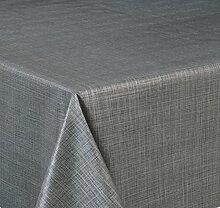 Wachstuch Tischdecke, Größe wählbar, d-c-fix Top Qualität Meterware, versiegelt abwischbar geprägt Sharon Anthrazit (280 x 140 cm)