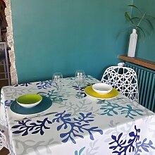 Wachstuch-Tischdecke Korale aus 100% Baumwolle