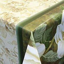 Wachstuch Tischdecke Meterware abwaschbar mit Motiv Blumen