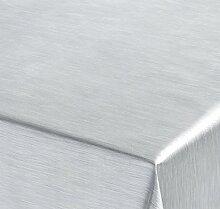 WACHSTUCH TISCHDECKE, Meterware Abwischbar, Metall Optik, SILBER, 260x137 cm, Länge wählbar, Beautex