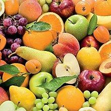 Wachstuch Tischdecke Meterware Früchte Obst C147050 Größe wählbar in eckig rund oval (140 x 160 cm eckig)