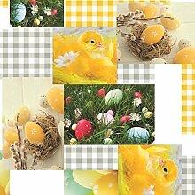 Wachstuch Tischdecke Meterware Ostern Ostereier