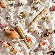 Wachstuch Tischdecke Meterware Strand Muscheln