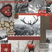 Wachstuch Tischdecke Meterware Weihnachten K192-1