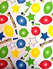 Wachstuch Tischdecke Rollenware 20 Meter Rolle x 140 cm Breite Luftballon Party K150180