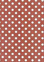 Wachstuch Tischdecke Rollenware 20 Meter Rolle x 140 cm Breite Punkte rot M102-10