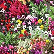 Wachstuch Tischdecke Rollenware 20 Meter Rolle x 140 cm Breite Blumen Garten W270