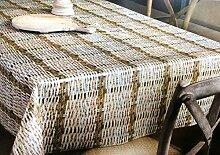 Wachstuch Tischdecke Rollenware 20 Meter Rolle x 140 cm Breite Rattan Optik K150181