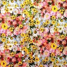 Wachstuch Tischdecke Rollenware 20 Meter Rolle x 140 cm Sommerblumen E190
