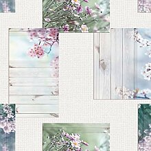 Wachstuch Tischdecke Rollenware 21 Meter Rolle x 160 cm Breite Blüten Sommer C174371