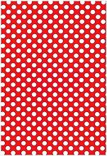 Wachstuch Tischdecke Rollenware Punkte Polka Dots gepunktet Farbe und Größe wählbar (15 m x140 cm, M110-5 rot)