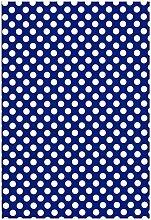 Wachstuch Tischdecke Rollenware Punkte Polka Dots gepunktet Farbe und Größe wählbar (10 m x 140 cm, M110-1 blau)
