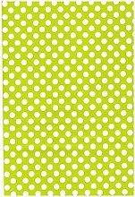 Wachstuch Tischdecke Rollenware Punkte Polka Dots gepunktet Farbe und Größe wählbar (10 m x 140 cm, M110-36 hellgrün)