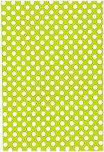 Wachstuch Tischdecke Rollenware Punkte Polka Dots gepunktet Farbe und Größe wählbar (20 m x 140 cm, M110-36 hellgrün)