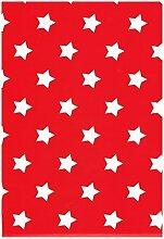 Wachstuch Tischdecke Rollenware Rolle 140 cm Breite Red Star M90352 (20 m x 140 cm eckig)