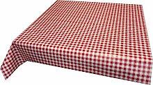 Wachstuch Tischdecke rot weiß kariert 140cm X