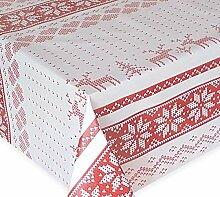 Wachstuch Tischdecke, Weihnachtstischdecke, Eckig