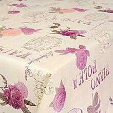 Wachstuchtischdecke Wachstuch Wachstischdecke Tischdecke abwaschbar Valse Piano Polka Blumen 260 x 140cm