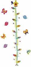 Wachstumsdiagramm-Aufkleber Butterflies
