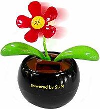 Wackelblume Gute Laune Blume mit Solar Flip Flap