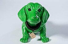 Wackeldackel groß grün lackiert 29cm