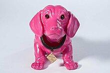 Wackeldackel groß pink lackiert 29cm
