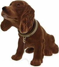 Wackelkopfhund Cocker Spaniel Hund Figur 17 cm