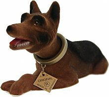 Wackelkopfhund Schäferhund Hund Figur 19 cm