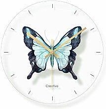 WADCRmgyx Glas Schmetterling Wanduhr Für