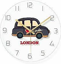 WADCRmgyx London Taxi Glas Wanduhr Modernes Design