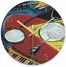 WADCRmgyx Picasso Retro Ölgemälde Glas Wanduhr