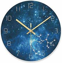 WADCRmgyx Sternenhimmel schütze Glas wanduhr
