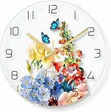 WADCRmgyx Tropische Blume Schmetterling Glas