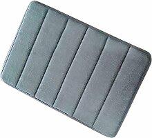 Wady Super Saugstark Wasser Haushalt Bad Rutschfest Mikrofaser Badematte mit Memory-Schaumstoff (grau)