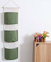 Wände Aufbewahrungstasche Textilien aus Baumwolle und Mason Wände C
